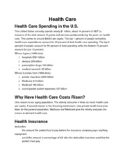 Basic Economics Health Care
