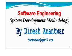 1 Software Development Methodology and Project Management