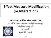 Lec 21 - Effect Measure Modification
