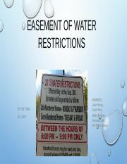 Easement of water Powerpoint