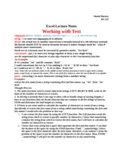 Text Information Lecture Notes