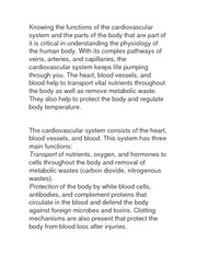 cardiovascular system notes