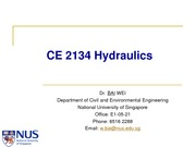 CE2134 (AY2012) 0. Introduction