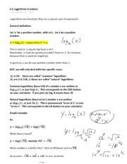 4.3 Logarithmic Functions(1)
