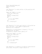 Theory ML Specification And Pointer Programs Homework Solution For COSC 4P42
