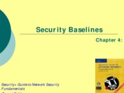 Ch04 - Security Baselines
