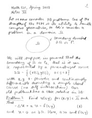 MATH 521 FINITE ELEMENT IN 2D NOTES