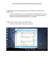 LAB 4 SCREEN SHOTS AND REVIEW QUESTIONS.docx