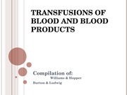 PPP-blood transfusions, B & L, W & H