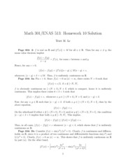 Math 301 Problem Set 10 Solutions