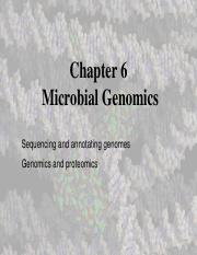 Chapter 6 - Microbial genomics