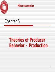 Chapter 5 Micro CLC 2013 - Producer's Behaviour.ppt