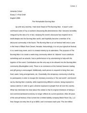 essay description of a place english writing essay  10 pages the remarkable burning man essay 2