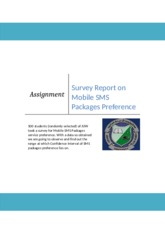 survey report on mobile netwoek SMS packages