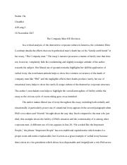The Company Man Essay