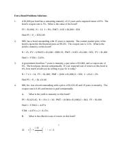 Chapter 6 Extra Bond Problems Solutions