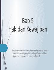 Bab 5 Hak Dan Kewajiban Bab 5 Hak Dan Kewajiban Bagaimana Harmoni
