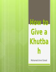 How_to_Give_a_Khutbah.ppt