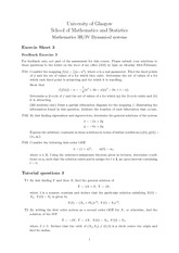 Exercise Sheet Problem Set 3