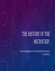 The history of the microchip