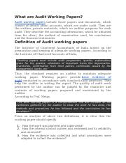 What are Audit Working Papers.docx