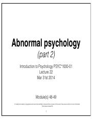 Lecture 22-Abnormal Psychology Pt 2.pdf