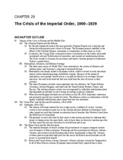 28 - The Crisis of the Imperial Order, 1900 - 1929