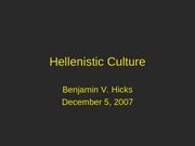 hellenistic culture, greek class 12-5