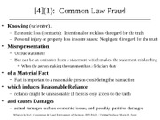 Common Law Fraud
