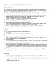 Seminar questions for Chapters VII thru XIII
