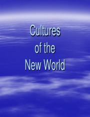 Cultures of the New World