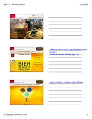 Lecture 2 - Chemistry of Beer Making