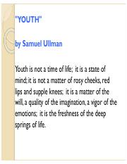 samuel ullman youth