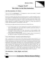 Chapter-No-07 (The Ethics in Job Discrimination).docx