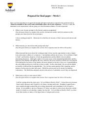 ENG 125_Proposal for Final Paper Burgess