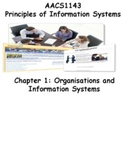 Chapter 1 Organisations and IS - Students 201516