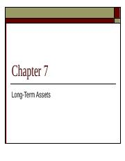 Accounting 230 Chapter 7 (Class).ppt