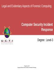 LEAFC UCTI Lecture 05 CSIRT_Computer_Security_Incident_Response_Team