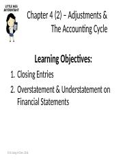 Ch4(2) – Adjustments & Accounting Cycle (2)(1)