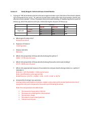 In Class Exercises - Lecture 6 - Study Design II - Cohort Case Control - ANSWERS.pdf