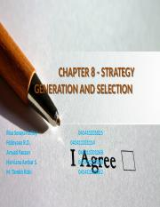 CHAPTER 8 - STRATEGY GENERATION AND SELECTION.pptx