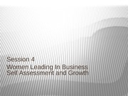 Session 4 Self Assessment and Growth