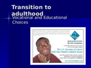 Transition to adulthood PP