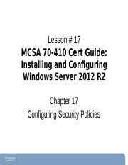 Chapter17Windows2012-70-410 ce