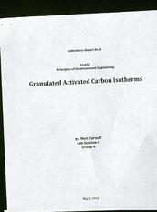 Lab Report No. 4: Granulated Activated Carbon Isotherms