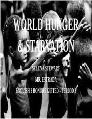 WORLD HUNGER & STARVATION.pptm