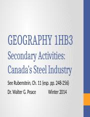 Lecture 18_Canada's Steel Industry.pptx