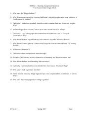 HTM Reading Questions 2