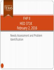 February 2 - Needs Assessments.pptx