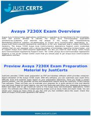 7230X Avaya Aamura Communication Applications Support Exam Questions